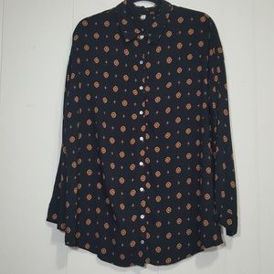 Free People Intimately medallion button up shirt M